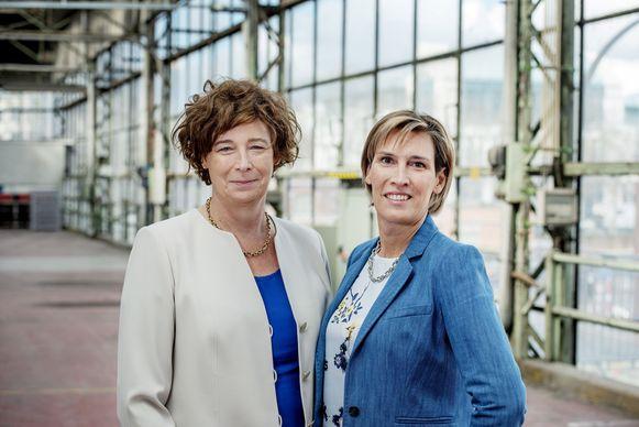 Petra De Sutter (links) en haar echtgenote Claire Vanhoutte staan op 26 mei allebei op de lijst van Groen. De Sutter trekt de Europese lijst, Vanhoutte staat op de 12de plaats voor de Vlaamse lijst.