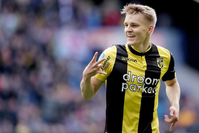 De ster van de laatste bekerconfrontatie tussen Vitesse en Heracles: Martin Ødegaard.