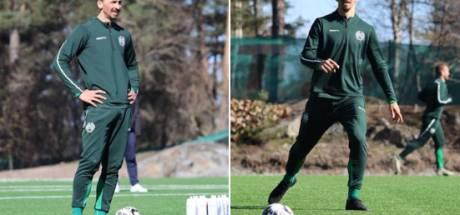 Ibrahimovic s'entraîne avec le club à d'Hammarby en Suède