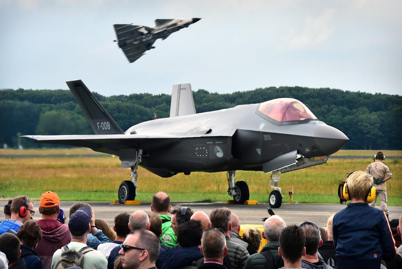 De F-35, het nieuwe paradepaardje van de luchtmacht.  Beeld Marcel van den Bergh / de Volkskrant