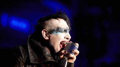 """Marilyn Manson had zenuwinzinking op het podium"""