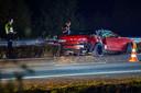 Veel schade bij ongeval op A50 bij Veghel.