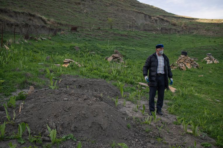 Witte kolen gaan op transport naar elders in Rusland. Beeld Yuri Kozyrev / Noor
