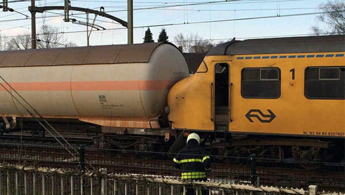 In maart botsten een goederentrein en een passagierstrein in Tilburg.