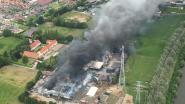 Stock Oeselgemse zelfpluktuin reddeloos verloren in brand Bavikhove