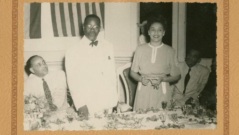 Otto en Hermina Huiswoud, in 1946 te gast op Cuba Beeld New York University