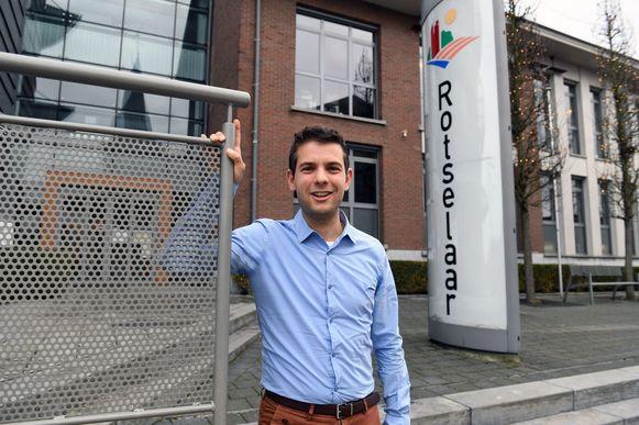 Jelle Wouters beleefde zijn eerste festival als burgemeester van Rotselaar.
