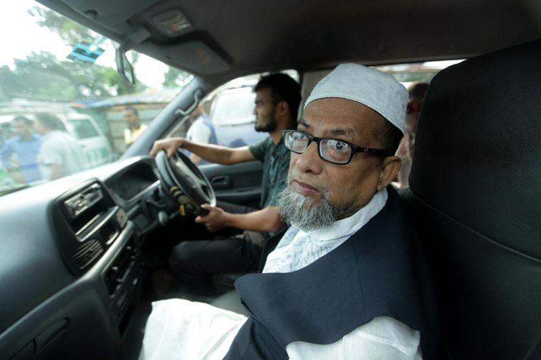 Familie van Quasem Ali arriveert voor de executie Beeld afp