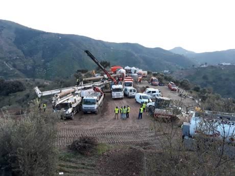 Reddingsoperatie Julen (2): boren eerste tunnel uitgesteld