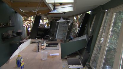VIDEO. Pas gerenoveerde Bed & Breakfast volledig vernield door storm