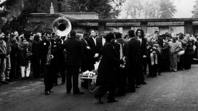 Begrafenis Ricky Hok a Hin.