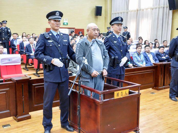 Gao Chengyong bij zijn veroordeling in de rechtbank vorig jaar.