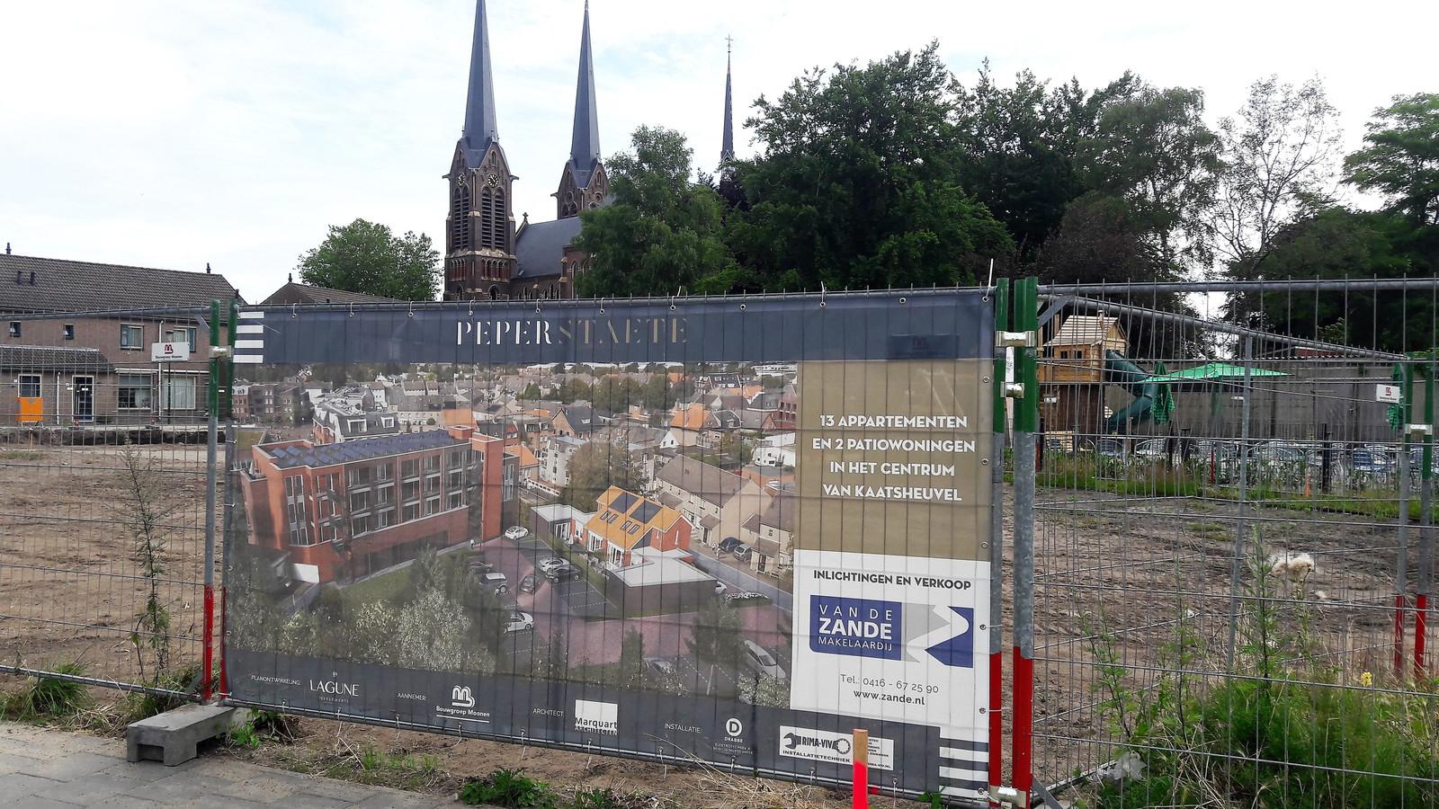 De nieuwbouw aan de Peperstraat in het centrum van Kaatsheuvel.