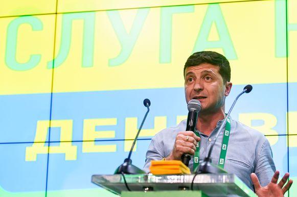 De partij van president Volodymyr Zelensky stevent af op een absolute meerderheid.