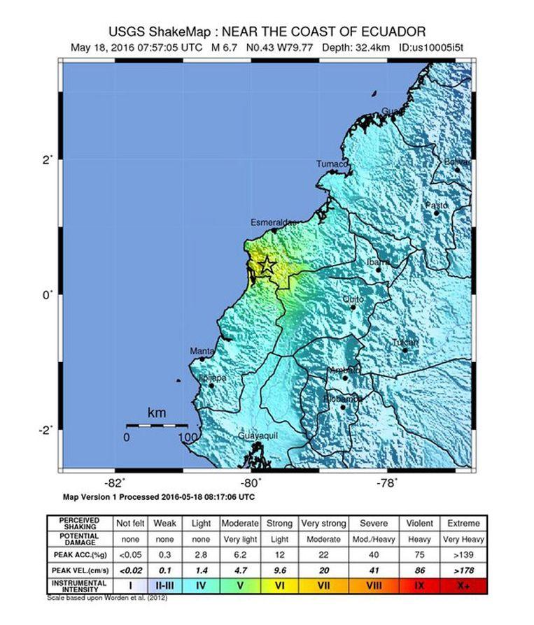 Een zware aardbeving heeft het kustgebied van het Zuid-Amerikaanse land Ecuador getroffen.