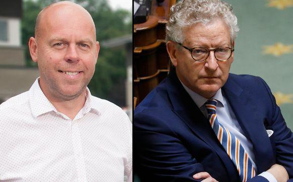 Sp.a-parlementslid Kurt De Loor en minister van Binnenlandse Zaken Pieter De Crem (CD&V).