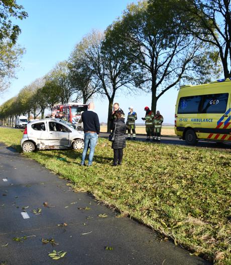 Automobilist knalt tegen de boom in Dronten