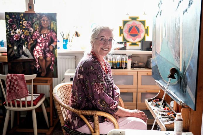 Frida Boland in haar atelier.