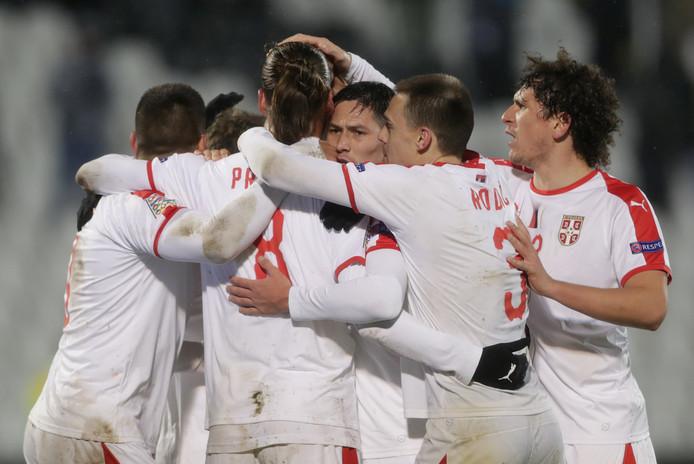 Servië heeft gescoord tegen Litouwen in het Nations League duel  van gisteren (4-1 winst).