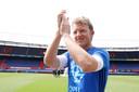 Dirk Kuyt zette een punt achter zijn profloopbaan nadat hij met Feyenoord de titel had gewonnen.