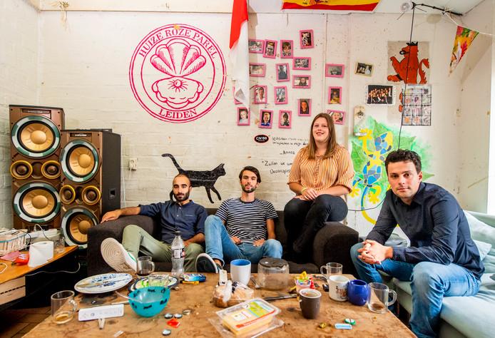 Van links naar rechts: Ali, Marc, Adinda en Martti.