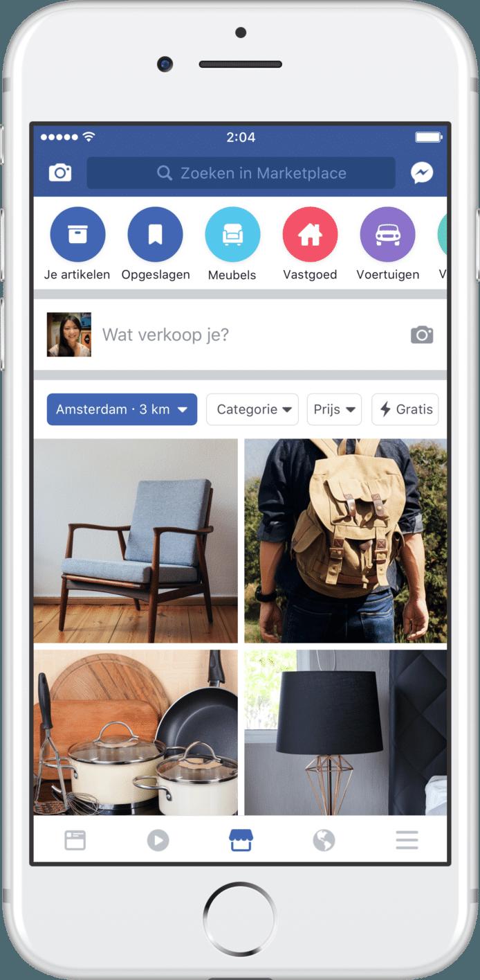 Facebook lanceert eigen versie Marktplaats