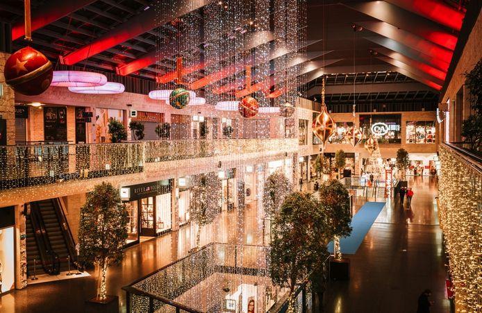 Het winkelcentrum K baadt momenteel in een kerstsfeer
