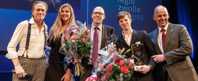 Ondernemer Jeroen Zuidberg van Frontline Systems uit Ens is uitgeroepen tot ondernemer van het jaar in de regio Zwolle. Starter van het jaar werd Johannes Alderse Baas, van DutchFiets.