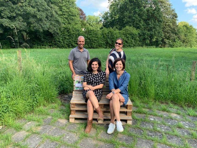 Haileab Fisehaye, Goedele Van der Spiegel, Gitte Gijs en Sien Pillot van Groen.
