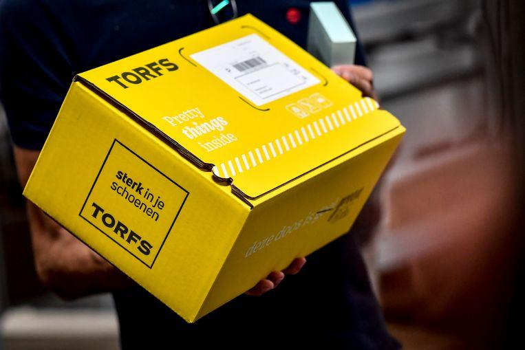Onder Schoenen Torfs en Telenet ondertekenden vandaag de 'Green Deal Duurzame Stedelijke Logistiek'.