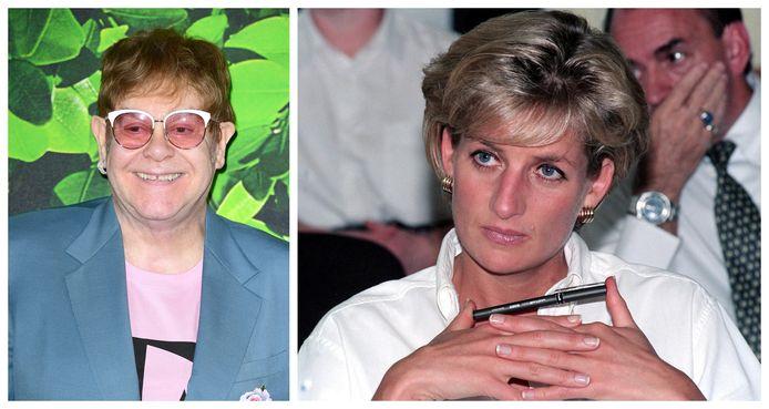 Elton John en prinses Diana waren goede vrienden.