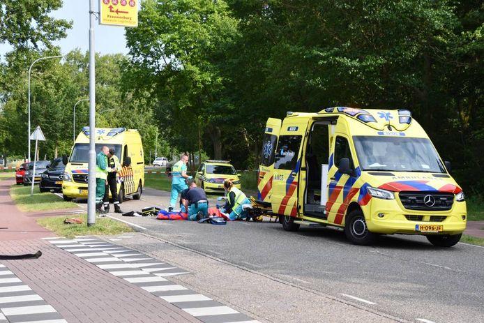 Bij het ongeval raakte iemand zwaargewond.