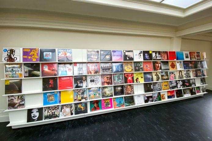 Een klein assortiment vinylplaten is nieuw in het aanbod van Stad Leest.