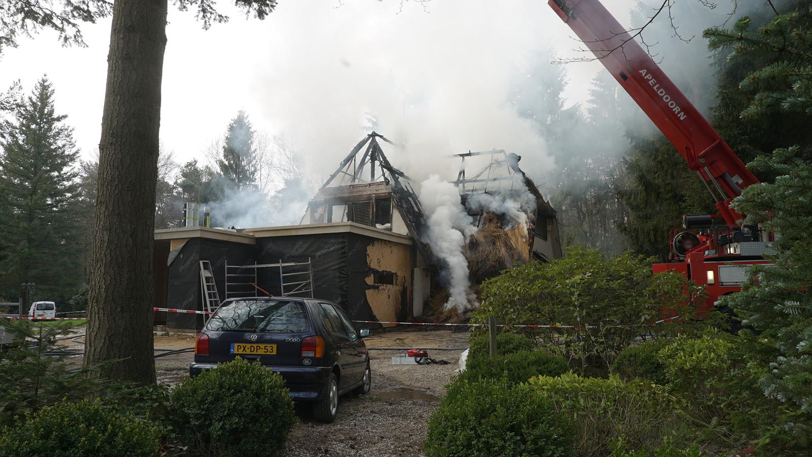 De villa werd volledig verwoest.