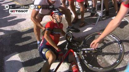 Dan toch na een aanraking met een supporter: Nibali verlaat de Tour met wervelbreuk