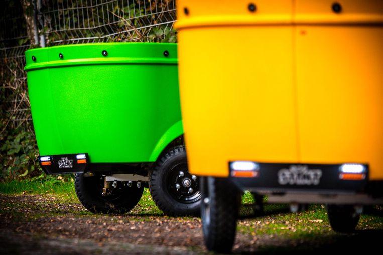 Een elektrisch aangedreven voertuig van Stint Urban Mobility.  Beeld ANP