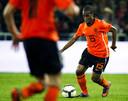 Vurnon Anita in één van zijn drie Oranje-interlands, tegen Mexico.