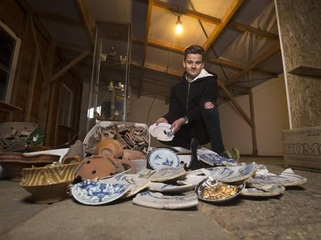 Chiem (15) uit Aalten speurt het liefst naar eeuwenoude spullen