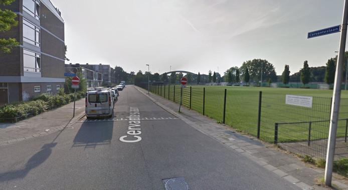 De Cervanteslaan in de Utrechtse wijk Oog in Al.