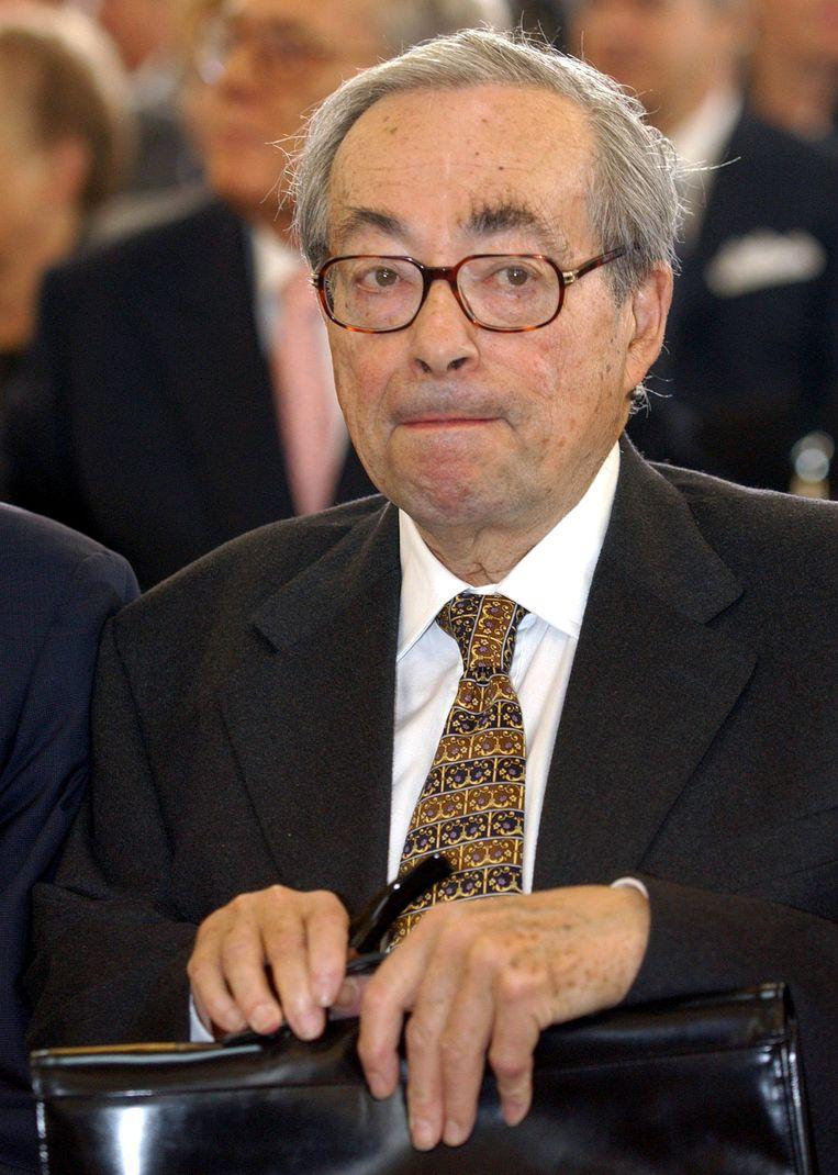 George Steiner in 2003.  Beeld Boris Roessler/dpa