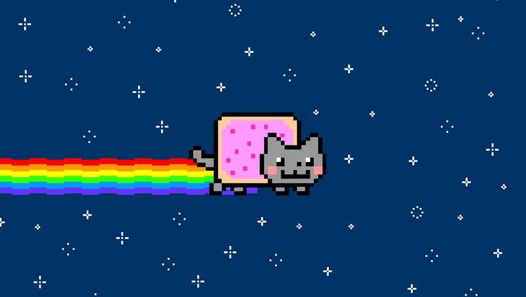Nyan Cat: 10 uur kijken naar een regenboog poepende kat in het heelal. Beeld YouTube