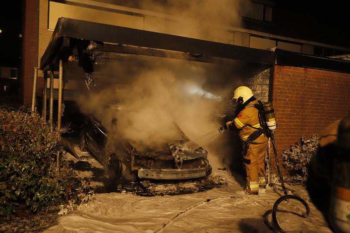 Autobrand in Cuijk
