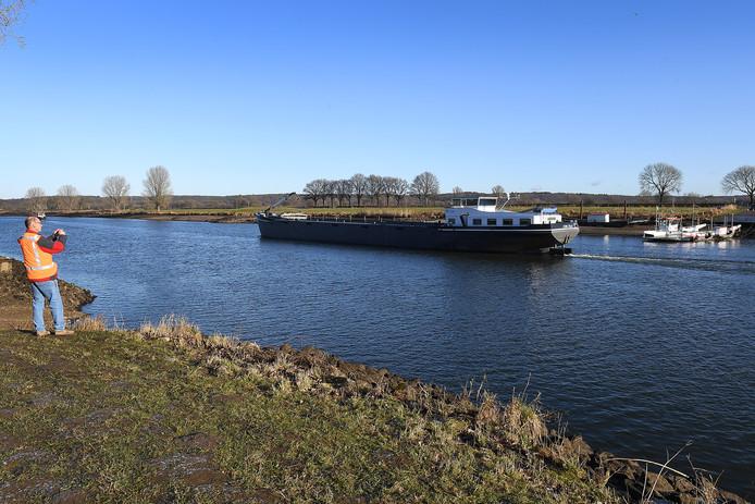Laagwater in de Maas. Foto ter illustratie.
