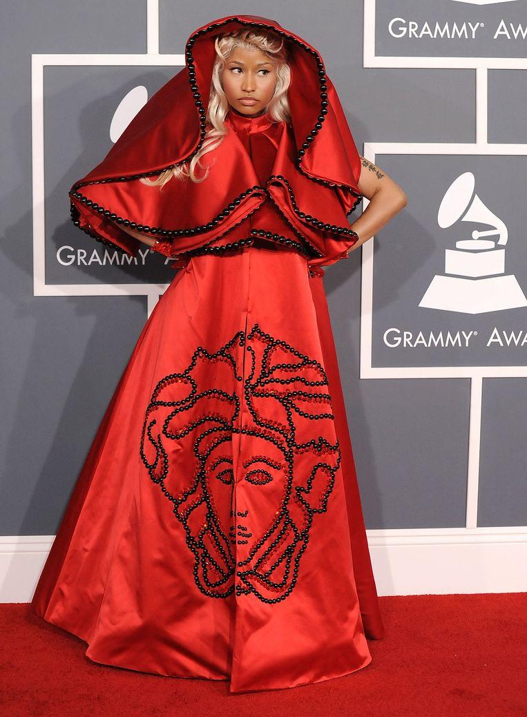 Nicki Minaj tijdens de 54e editie van de Grammy Awards in 2012. Beeld WireImage