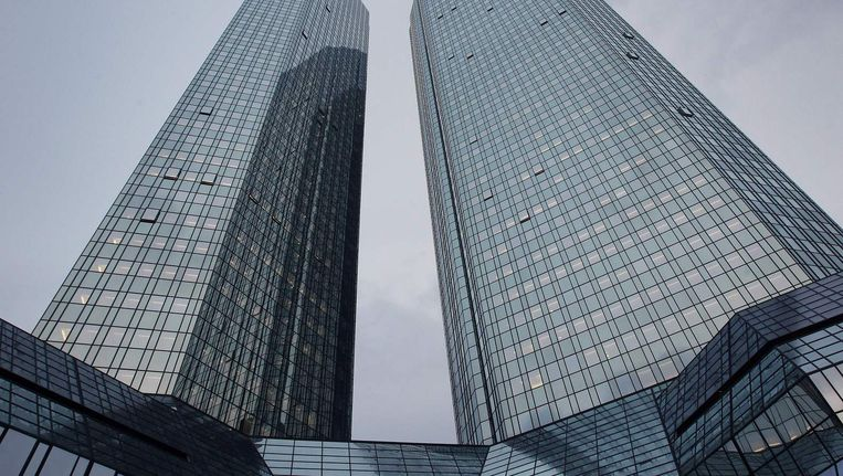 Het hoofdkantoor van Deutsche Bank, in Frankfurt. Beeld afp