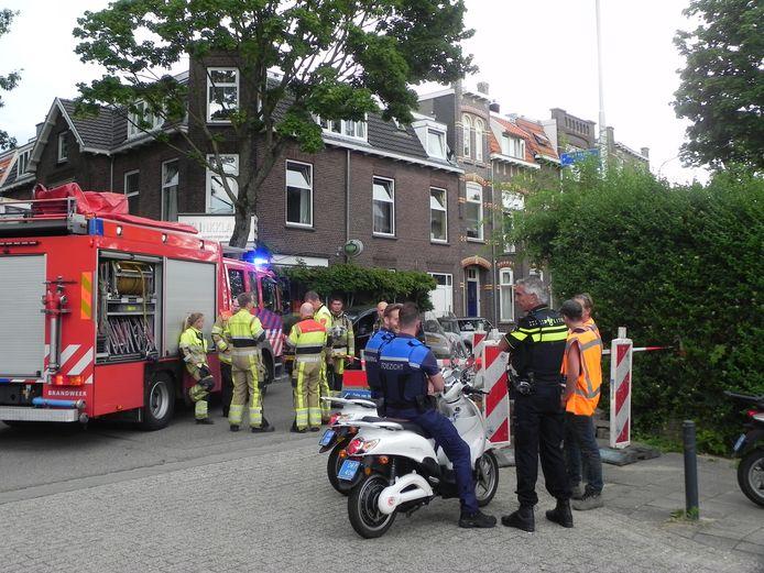Gaslek in de Tooropstraat.
