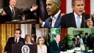 """George Bush zijn pleidooi voor """"as van het kwaad"""" en 4 andere opmerkelijke presidentiële toespraken"""