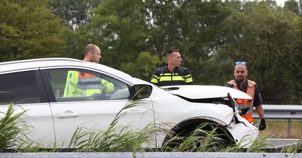 Automobilist gewond bij ongeluk op A2 bij Liempde.