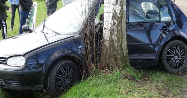 Automobilist gewond na botsing tegen boom bij Rheezerveen.