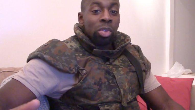 Screenshot uit een video die Amedy Coulibaly zelf maakte.